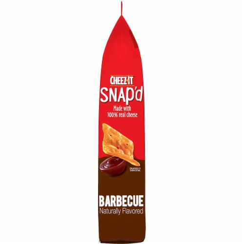 Cheez-It Snap'd Barbecue Flavored Cheesy Baked Snacks Perspective: left