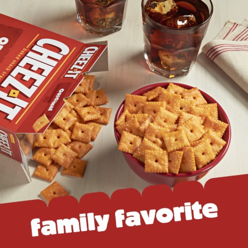 Cheez-It Baked Snack Cheese Crackers Original Family Size Perspective: left