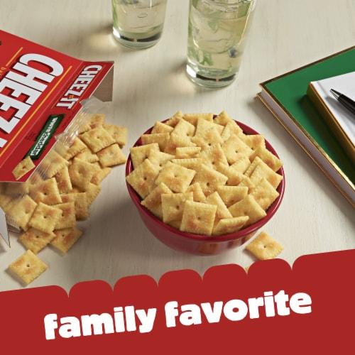 Cheez-It Baked Snack Cheese Crackers White Cheddar Family Size Perspective: left