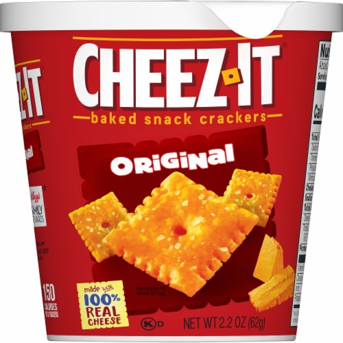 Cheez-It Original Baked Snack Crackers Cup Perspective: left