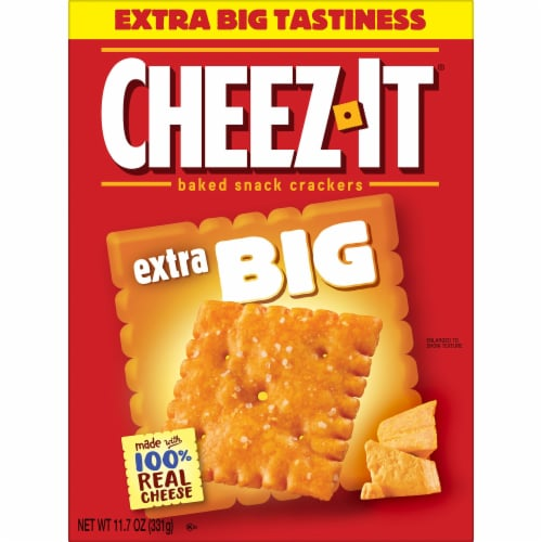 Cheez-It Baked Snack Cheese Crackers Extra Big Perspective: left