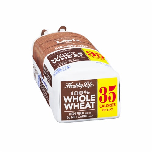 Healthy Life 100% Whole Wheat Bread Perspective: left
