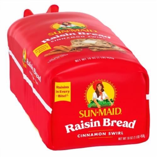 Sun-Maid Cinnamon Swirl Raisin Bread Perspective: left