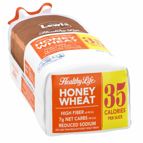 Healthy Life High Fiber Honey Wheat Bread Perspective: left