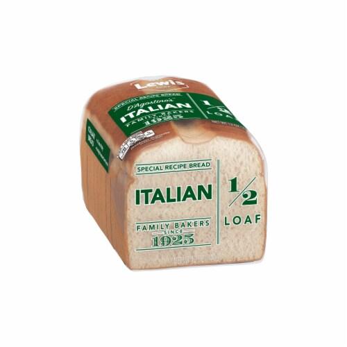 Lewis Bake Shop Italian Bread Half Loaf Perspective: left