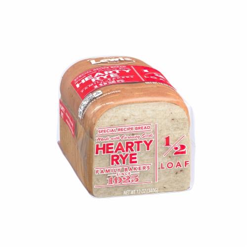 Lewis Bake Shop Half Loaf Hearty Rye Bread Perspective: left