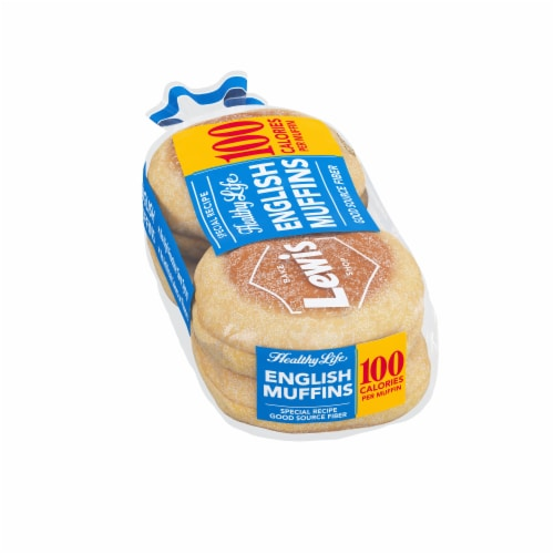 Lewis Bake Shop Healthy Life White English Muffins 4 Count Perspective: left