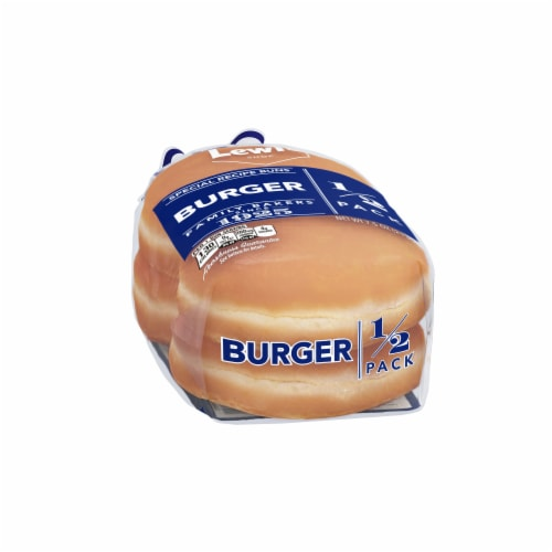 Lewis Bake Shop Burger Special Recipe Buns 1/2 Pack Perspective: left