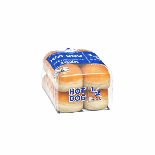 Lewis Bake Shop Hot Dog Special Recipe Buns 1/2 Pack Perspective: left