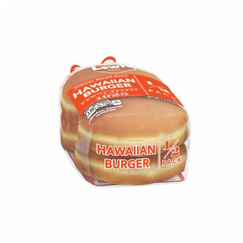 Lewis Bake Shop Special Recipe Hawaiian Burger Buns 4 Count Perspective: left