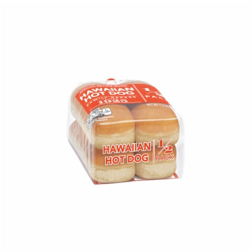 Lewis Bake Shop Special Recipe Hawaiian Hot Dog Buns 1/2 Pack Perspective: left