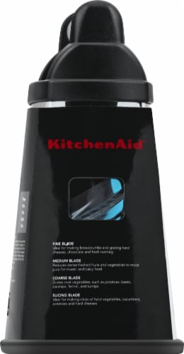 KitchenAid Gourmet Box Grater - Onyx Black/Silver Perspective: left