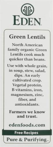 Eden Organic Green Lentils Perspective: left