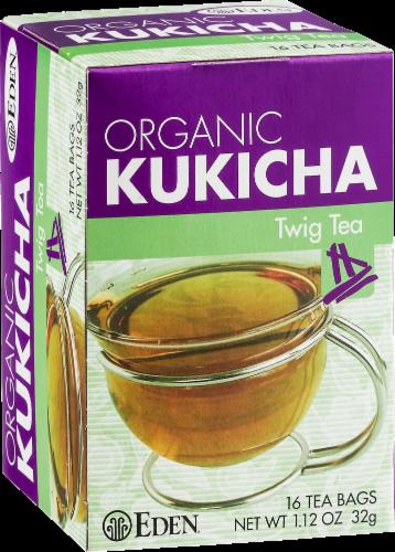Eden Organic Kukicha Twig Tea Bags Perspective: left