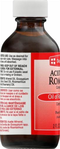 De La Cruz Aceite de Romero Para Masaje Oil of Rosemary Perspective: left