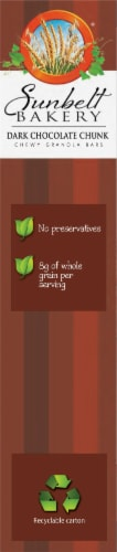 Sunbelt Bakery Dark Chocolate Chunk Chewy Granola Bars Perspective: left