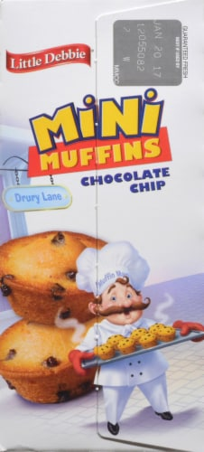 Little Debbie Chocolate Chip Mini Muffins Perspective: left