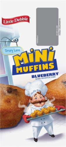 Little Debbie Blueberry Mini Muffins Perspective: left