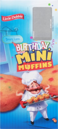Little Debbie Mini Birthday Cake Muffins Family Pack Perspective: left