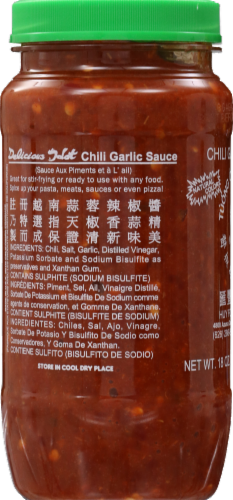 Huy Fong Chili Garlic Sauce Perspective: left
