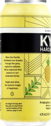 KYLA Hard Kombucha Pineapple Ginger Colada Can Perspective: left