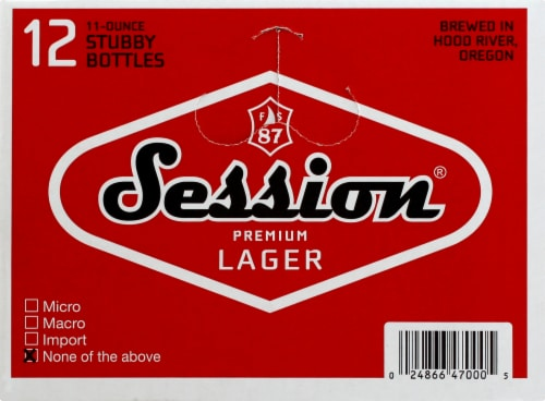 Full Sail Brewing Co. Session Premium Lager Perspective: left