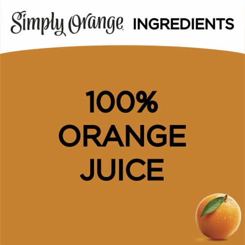 Simply Orange Pulp Free Juice Drink Perspective: left