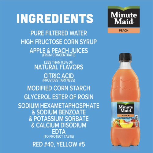 Minute Maid Peach Flavored Fruit Drink Perspective: left
