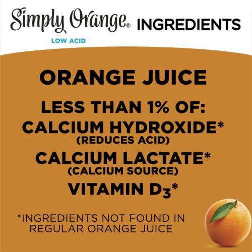 Simply Orange Low Acid & Pulp Free Juice Perspective: left