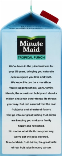 Minute Maid Tropical Punch Fruit Juice Drink Perspective: left