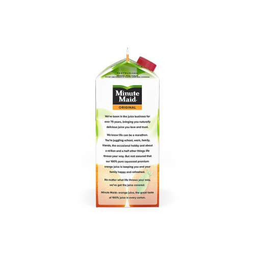 Minute Maid Original Low Pulp 100% Orange Juice Perspective: left