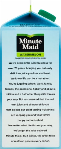 Minute Maid Watermelon Flavored Fruit Juice Drink Perspective: left