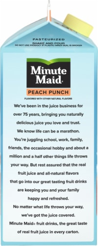 Minute Maid Peach Punch Fruit Juice Drink Perspective: left