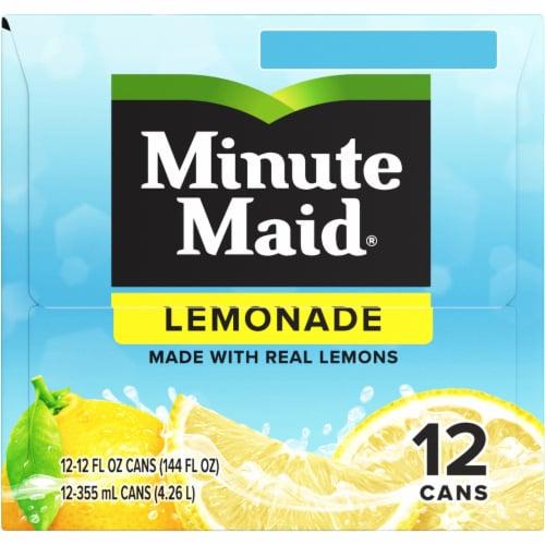 Minute Maid Lemonade Fruit Juice Drink Fridge Pack Perspective: left