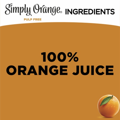 Simply Orange Pulp Free Orange Juice Perspective: left