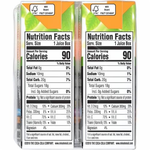 Minute Maid Kids +®  100% Orange Juice Boxes Perspective: left