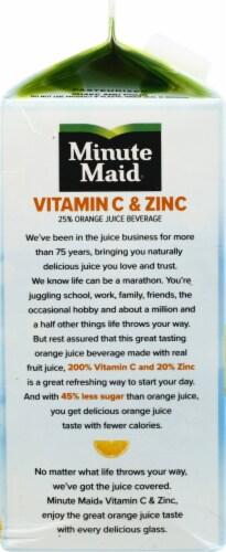 Minute Maid Vitamin C & Zinc Pulp Free Orange Juice Beverage Perspective: left