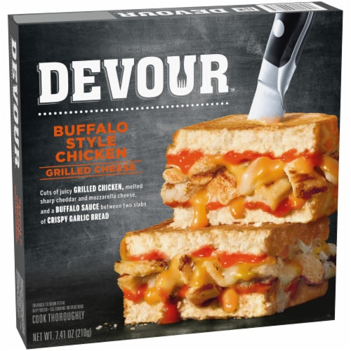 Devour Buffalo Chicken Grilled Cheese Perspective: left