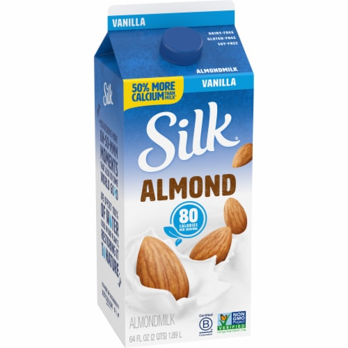 Silk Vanilla Almond Milk Perspective: left