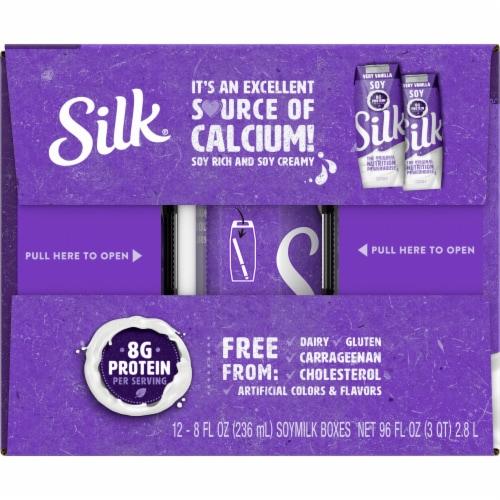 Silk Very Vanilla Soymilk 12 Count Perspective: left
