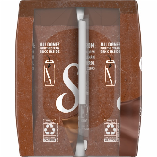 Silk Chocolate Soymilk 6 Count Perspective: left