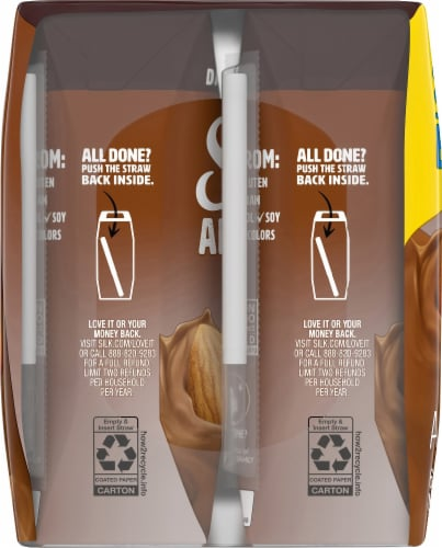 Silk Dark Chocolate Almond Milk Perspective: left