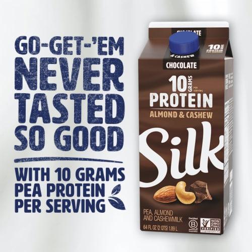 Silk Chocolate Protein Almond & Cashew Milk Perspective: left
