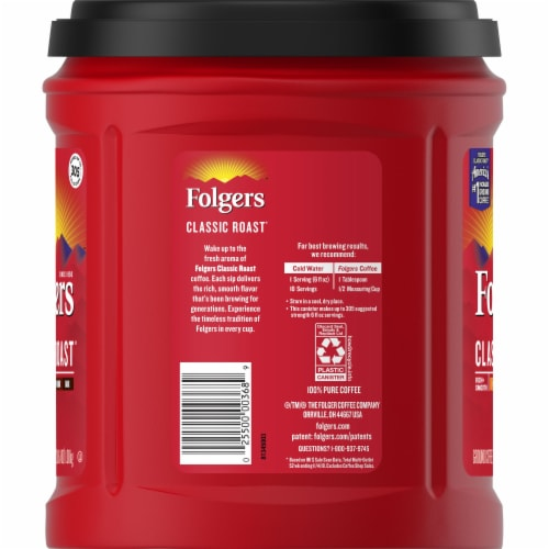 Folgers Classic Roast Medium Ground Coffee Perspective: left