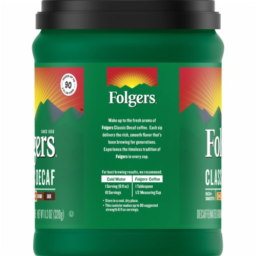 Folgers Classic Decaf Medium Roast Coffee Perspective: left