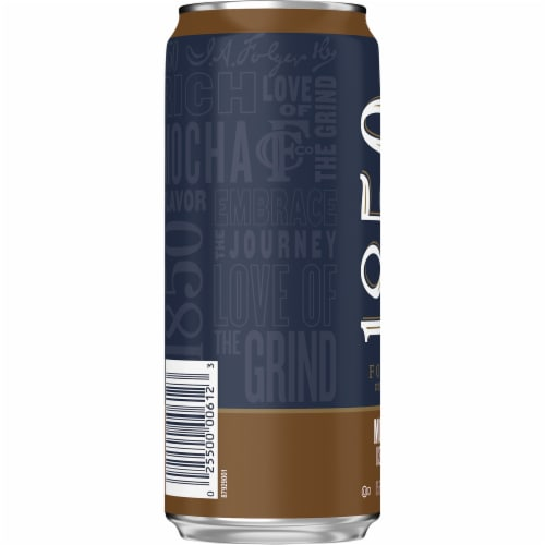 Folgers 1850 Mocha Iced Coffee Perspective: left