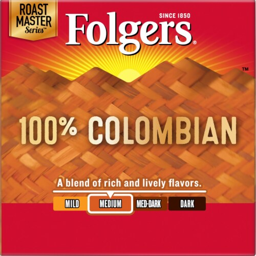 Folgers Gourmet Lively Colombian K-Cup Pods Perspective: left