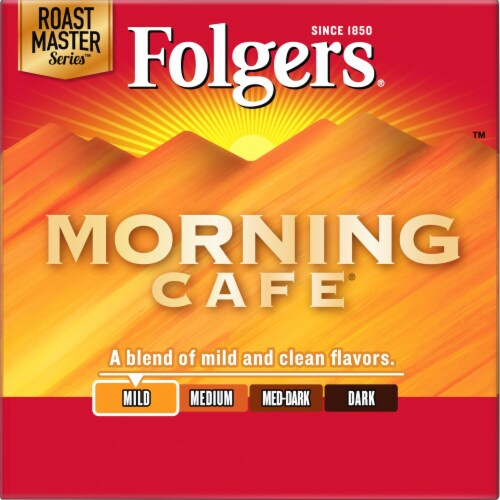 Folgers Gourmet Selections Morning Cafe Light Roast K-Cup Pods Perspective: left