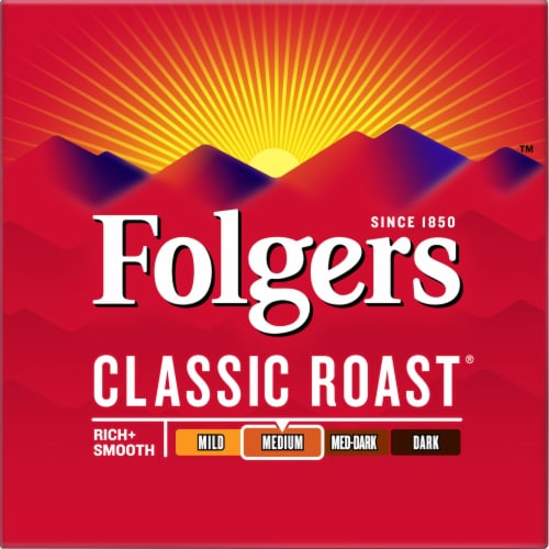 Folgers Gourmet Classic Roast K-Cup Pods Perspective: left