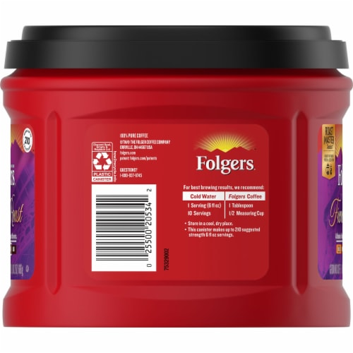 Folgers French Roast Ground Coffee Perspective: left